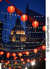 ASIA SINGAPORE CHINA TOWN - a traditional chinese lamp in...