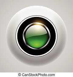Button 3d green