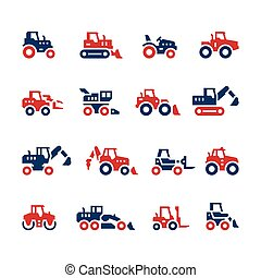 Set color icons of tractors
