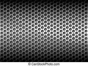 Perforated Metal Grid Background - Chrome Perforated Metal...