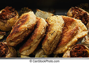 Cordon bleu cutlets closeup - Cordon bleu cutlets made of...