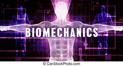 Biomechanics as a Digital Technology Medical Concept Art