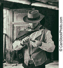 Gunfighter while scrolling tobacco - Gunfighter of the wild...