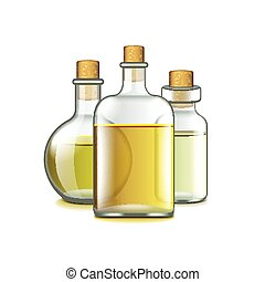 Spa oils isolated on white vector