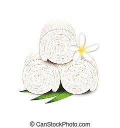 Spa towels isolated on white vector - Spa towels isolated on...