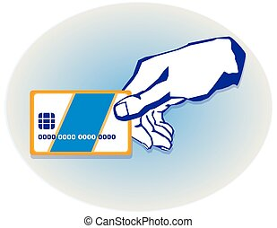 hand with a credit card