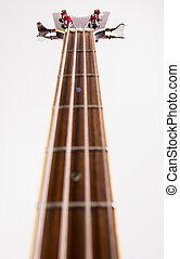 Neck of a bass guitar