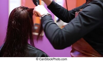 Beauty Salon Work With A Lock Of Hair HD
