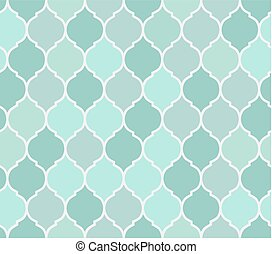 Seamless pattern turquoise tiles