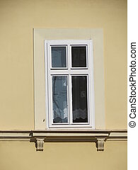 Traditional viennese house in Vienna, Austria - detail of a...