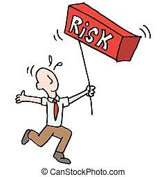 man balancing risk metaphor - An image of a man balancing...