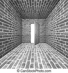 room with open door - creative techno room with open door