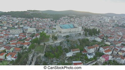 Aerial View Of Beautiful Small Town Sibenik - Aerial View Of...