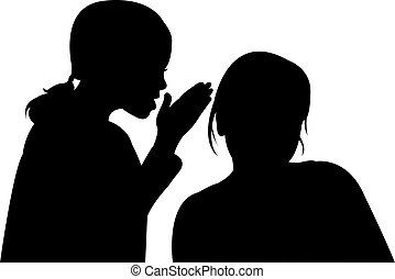 two children, talking to each other