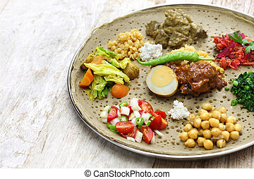 ethiopian cuisine, one plate dinner
