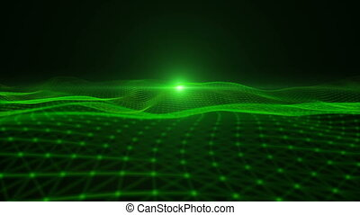particle - Green particle dimension space background
