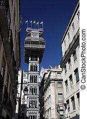 EUROPE PORTUGAL LISBON ELEVADOR DE SANTA JUSTA - the...