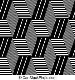 Seamless op art pattern. - Seamless geometric op art...