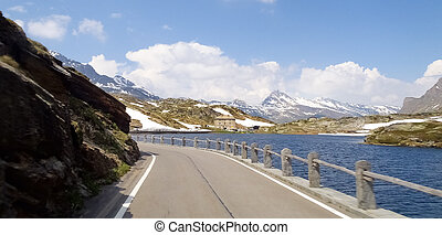 Lake of San Bernardino - San Bernardino pass, Switzerland:...