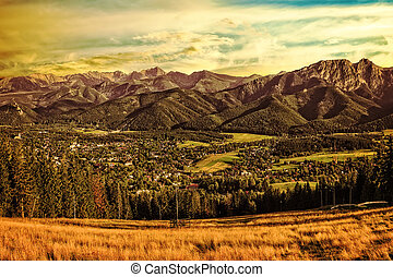 View from Gubalowka - Gubalowka - view on panorama of Tatras...