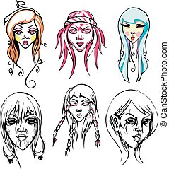 Odd female heads