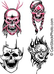 Dead skulls - Set of horrible skulls and bloody boneheads...
