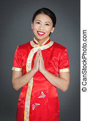 Beautiful Traditional Asian Woman - Beautiful friendly...