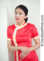 Beautiful Traditional Asian Woman - Traditional Chinese...