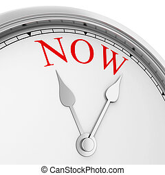 Time is now concept