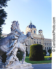 Statue in the garden of Kunsthistorisches Museum in Vienna