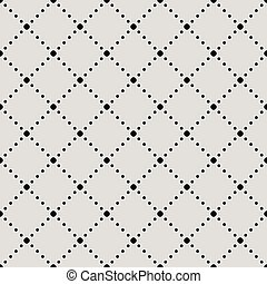 Seamless diamond shaped circles vector background.