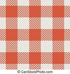 Seamless red and white tablecloth vector pattern.