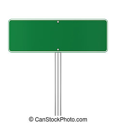 Road sign 3d illustration isolated on white background