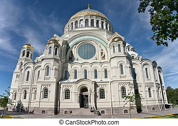 The Naval Cathedral of Saint Nicholas in Kronstadt,...