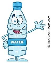 Water Plastic Bottle Waving