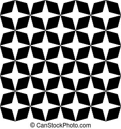 moroccan zellige seamless - Black and white mosaic moroccan...