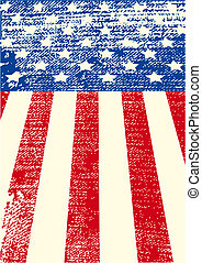 American grunge flag - An American grunge flag for a...