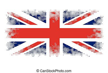 great britain flag halftone abstract vector illustration