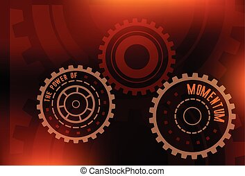 the power of momentum background - abstract gears with...