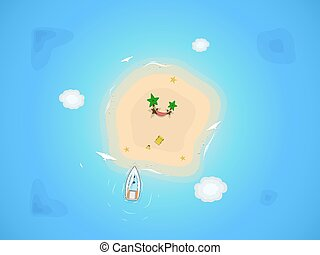 sand island in the sea