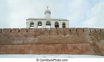 The belfry of Novgorod Kremlin, V.Novgorod, Russia - The...