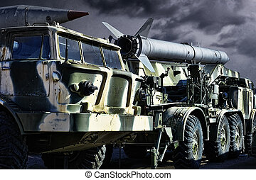 Military transport - Spoky military transport with rockets