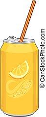 Carbonated orange drink. Vector illustration