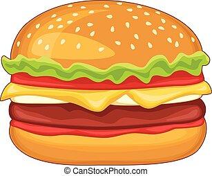 Hamburger isolated on the white