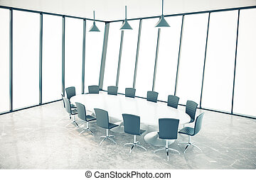 Conference room interior - Bright conference room interior...