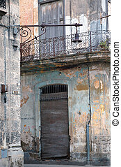 Eroded Havana building detail, cuba - Detail of eroded walls...