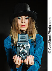 Steampunk with old retro camera - Photography and retro...