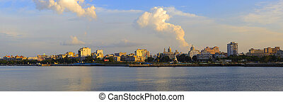 Havana skyline panorama at sunset - Panoramic view of Havana...