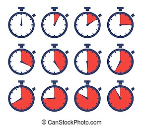 Chronometers Sport Time Laps Sequence - Vector stock of...