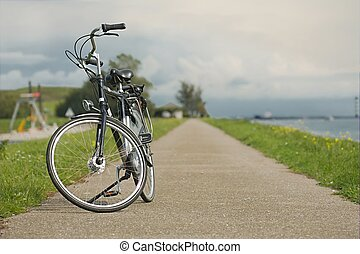 Bicycle on a bright sunny say
